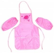 Фартук для детского творчества с нарукавниками Economix, розовый