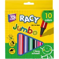 Фломастеры Cool for school Racy Jumbo, 10 цветов, в бумажной коробке