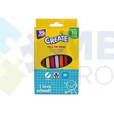 Фломастеры Cool for school Racy, 18 цветов, в коробке
