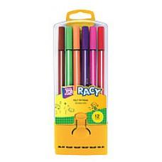 Фломастеры Cool for school Racy, 12 цветов, в пенале