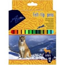 Фломастеры Economix Animal story, 12 цветов