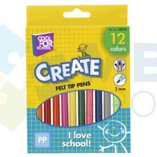 Фломастеры Cool for school, 12 цветов, в коробке