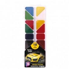 Акварель медовая Cool for school Racing League, 18 цветов