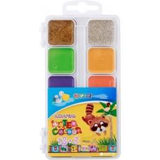"""Краски акварельные медовые Economix """"Africa Kids"""", 18 + 2 цветов, без кисточки, пластик"""