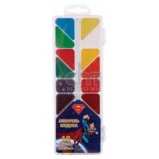 """Акварель медовая Cool for school """"Superman"""", 18 цветов, без кисточки, пластик"""