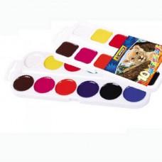 """Краски акварельные медовые Economix """"Africa"""", 10 цветов, без кисточки, пластик"""