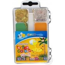 """Краски акварельные медовые Economix """"Africa Kids"""", 14 + 2 цветов, без кисточки, пластик"""