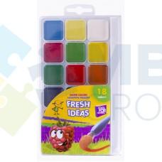 Акварель медовая Cool for school Fresh Idea, 18 цветов