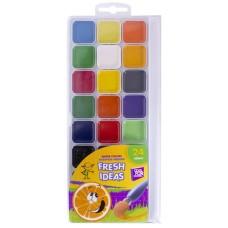 Акварель медовая Cool for school Fresh Idea, 24 цвета