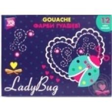 Краски гуашевые Cool for school Ladybug, 12 цветов