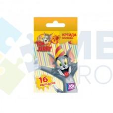 """Мел цветной восковой Cool for school """"Tom & Jerry"""", 16 шт."""