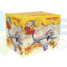 """Мел школьный белый Cool for school """"Tom & Jerry"""", 100 шт."""