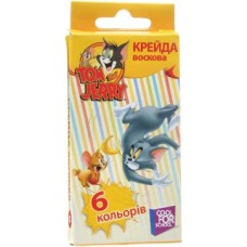 """Мел цветной восковой Cool for school """"Tom & Jerry"""", 6 шт."""