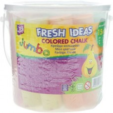 "Мел цветной Cool for school ""Jumbo"", ведерко, 15 шт."