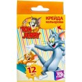 "Мел цветной масляний Cool for school ""Tom & Jerry"", 12 шт."