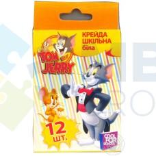 """Мел школьный белый Cool for school """"Tom & Jerry"""", 12 шт."""