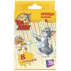 """Мел цветной восковой Cool for school """"Tom & Jerry"""", 8 шт."""