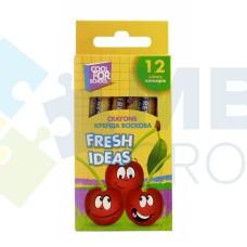 "Мел восковый Cool for school ""Fresh Ideas"", 12 шт."