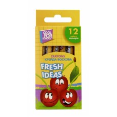 "Мел восковый Cool for school ""Fresh Ideas"", 12 шт."