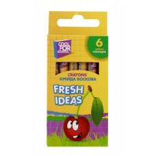 "Мел восковый Cool for school ""Fresh Ideas"", 6 шт."
