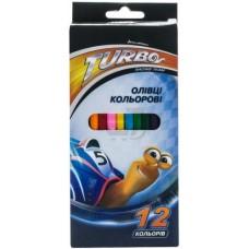 """Карандаши цветные Cool for school """"Turbo"""", 12 цветов"""