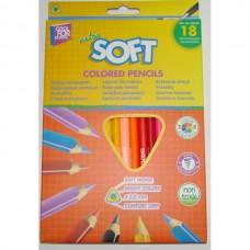 """Карандаши цветные Cool for school """"Extra Soft"""", треугольные, 18 цветов"""
