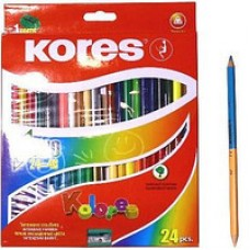 """Карандаши цветные Kores """"Duo"""", трехгранные, 48 цветов"""