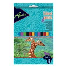 """Карандаши цветные пластиковые Economix """"Africa"""", 18 цветов"""