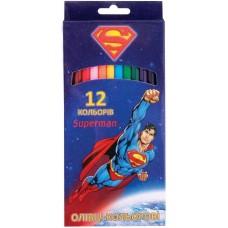 """Карандаши цветные Cool for school """"Superman"""", 12 цветов"""