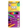 """Карандаши цветные Cool for school """"Softy"""" 12 цветов"""