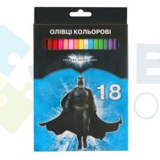 """Карандаши цветные Cool for school """"Batman"""", 18 цветов"""