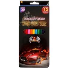 """Карандаши цветные Cool for school """"Racing"""", 12 цветов"""