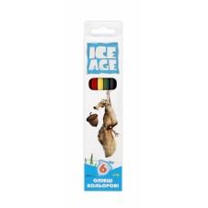 "Карандаши цветные Cool for school ""Ice Age"", 6 цветов"