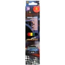 """Карандаши цветные Cool for school """"Racing"""", 6 цветов"""
