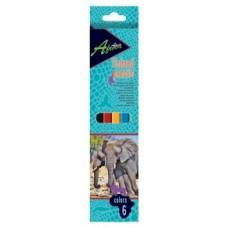 """Карандаши цветные пластиковые Economix """"Africa"""", 6 цветов"""