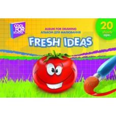 """Альбом для рисования на пружине Cool for school """"Fresh Ideas"""", 20 листов"""