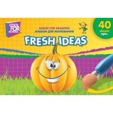 """Альбом для рисования на спирали Cool for school """"Fresh Ideas"""", 40 листов"""