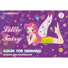 """Альбом для рисования на скобе Cool for school """"For Girls"""", 12 листов"""
