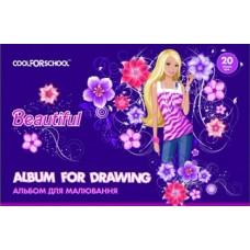 """Альбом для рисования на пружине Cool for school """"Beautiful"""", 20 листов"""
