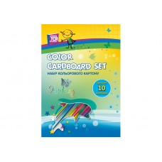 """Набор цветного картона Cool for school """"CFS"""" А4, 10 л."""
