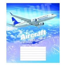 """Тетрадь Мрії збуваються """"Aircraft"""" 18 листов, клетка"""