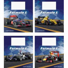 """Тетрадь Мрії збуваються """"Formula 1"""" 18 листов, клетка"""