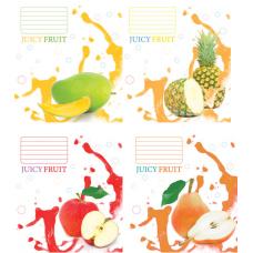 """Тетрадь Мрії збуваються """"Juicy fruit"""" 18 листов, линия"""