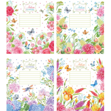 """Тетрадь Мрії збуваються """"Flowers"""" 24 листа, клетка"""