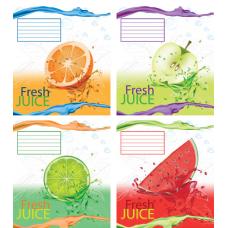 """Тетрадь Мрії збуваються """"Fresh juice"""" 24 листа, клетка"""