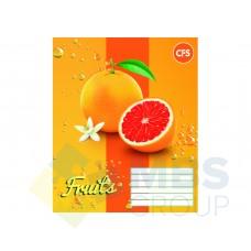 """Тетрадь Cool for school """"Fruits"""", 12 листов, клетка"""