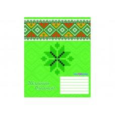 """Тетрадь Cool for school """"Ukrainian Ornament"""", 12 листов, клетка"""
