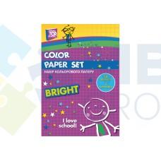 """Набор цветной бумаги Cool for school """"CFS"""" А4, 16л., 8 цв., 70г/м2"""