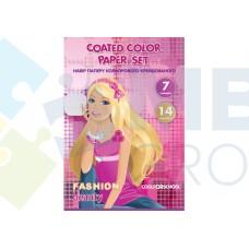 """Набор цветной бумаги мелованной Cool for school """"CFS"""" А4 , 14л., 7 цв., 90 г/м2"""