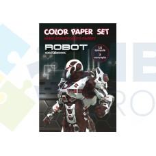"""Набор цветной бумаги Cool for school """"CFS"""" А4, 16л., 8 цв., 45 г/м2"""